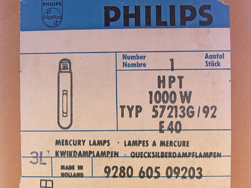 Philips G/92/2 HPT 1000W 4A Holland